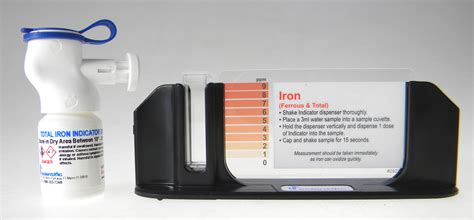 iron test kit home hardness and iron color cube test kit