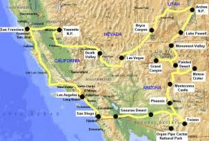 west road map this route on the west coast is the most known route that