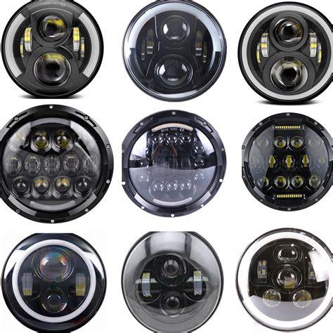lada led h4 black 7 quot led headlight headl for jeep wrangler jk tj cj