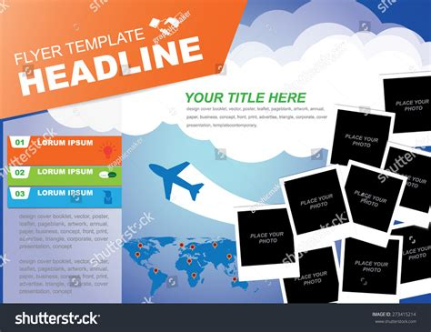 id layout template stock vector brochure flyer design vector brochure flyer design layout templatetravel stock