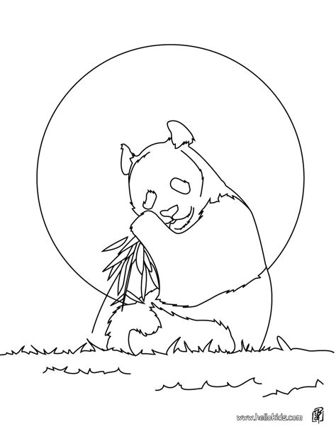 giant panda coloring pages hellokids com