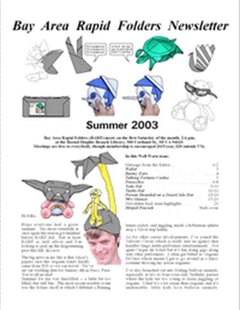 Shafer Origami Diagrams - barf 2003 summer by shafer book review gilad s