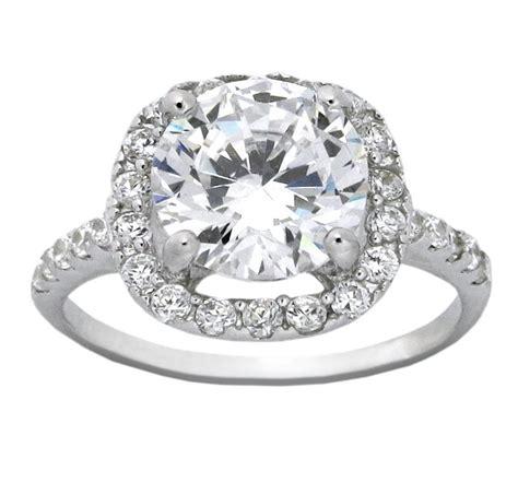 beautiful 2 5 carat cubic zirconium halo engagement