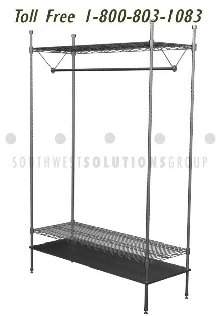 tech wire shelving wire hanging clothing racks adjustable shelves store hospital lab tech coats