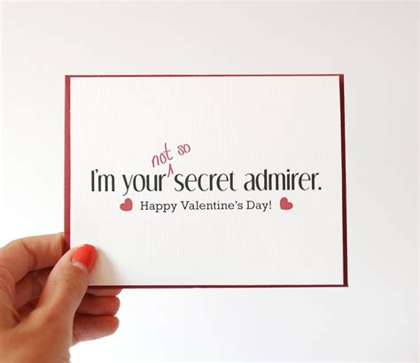 secret admirer valentines day ideas valentines card i you card secret admirer happy