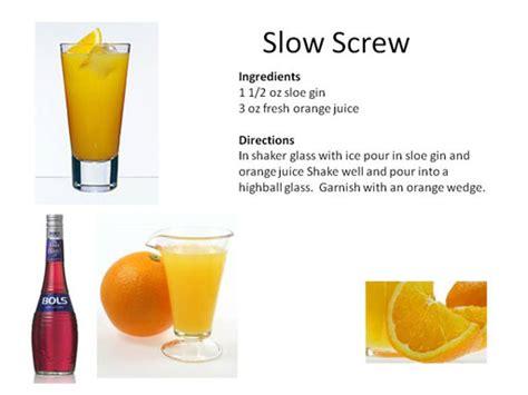 slow comfortable screw drink slow screw recipe