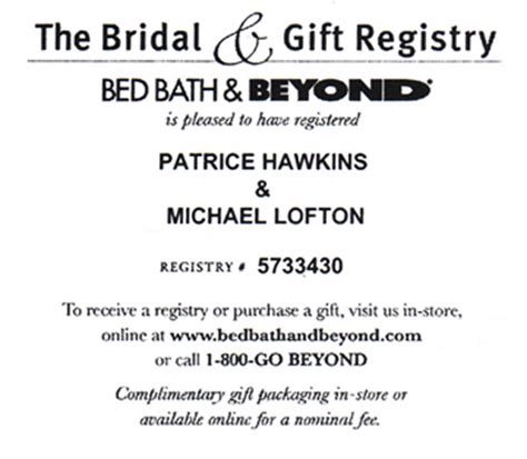 bed bath registry bed bath beyond registry