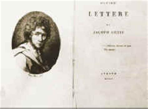 ultime lettere di jacopo ortis riassunto scheda ortis