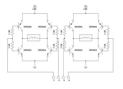 bipolar transistor h bridge gt circuits gt a simple dual h bridge l46319 next gr