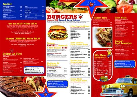 dinner menu howdeez american diner menu menu for howdeez american