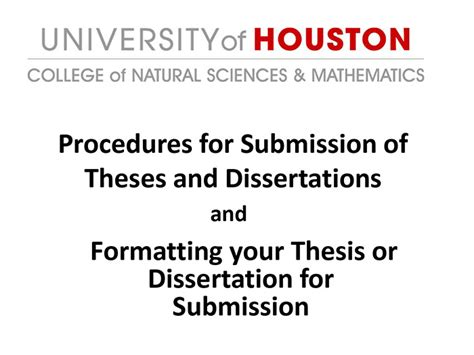 electronic thesis and dissertation thesis dissertation of houston