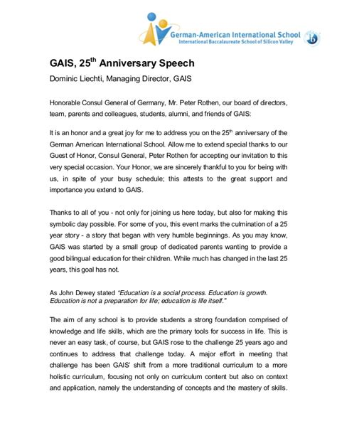 Wedding Anniversary Speech For Parents by 25th Anniversary Speech