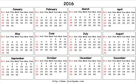 printable calendar week number 6 best images of 2016 calendar printable week number
