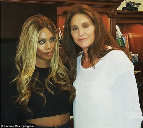 Cait Skirt Orange caitlyn jenner and laverne cox enjoys a at i