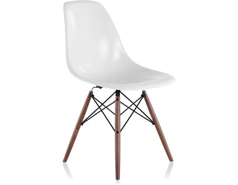 Molded Chair by Eames 174 Molded Fiberglass Side Chair With Dowel Base