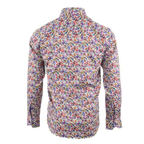 Leaf Print Shirt claudio lugli cp6198 leaf print print shirt the shirt store