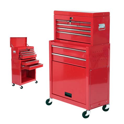 Mechanics 8 Drawer Steel Combination Heavy Duty Tool Chest Tool Cabinet With Wheels