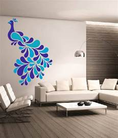 dream on walls decal colorful peacock wall stickers