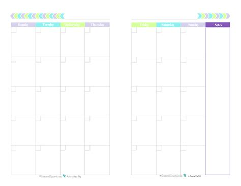 half size printable planner pages blank 2 page per month calendar half size green blue