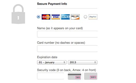 Credit Card Transaction Form Template The Ultimate Ux Design Of The Credit Card Payment Form Designmodo