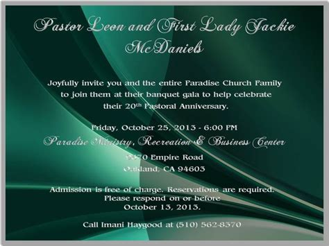 invite pastor to wedding reception 46 best images about paradise pastor s 20th