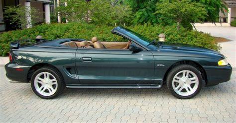 98 mustang gt convertible satin green 1998 ford mustang gt convertible