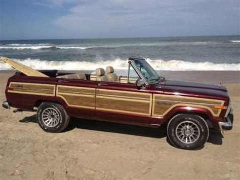 convertible jeep truck quot coolest jeep on the beach wagoneer convertible the