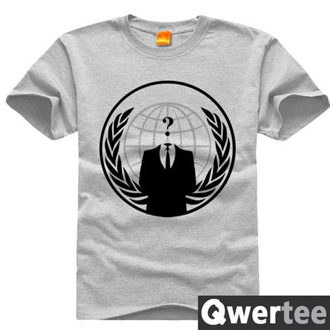 T Shirt Anonymous 01 anonymous hack hacker anti anony mouse print original