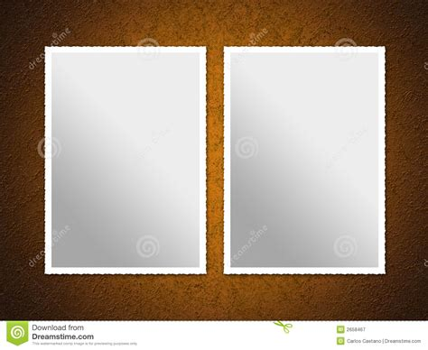 Photo Frame With Two Pictures two photo frames stock illustration image of