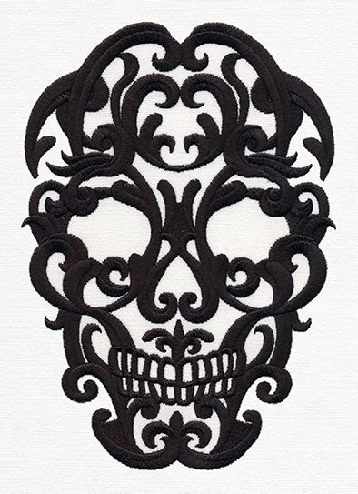 scrollwork skull urban threads unique and awesome