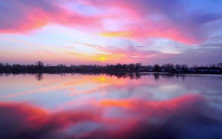 pink sky sky nature background wallpapers  desktop