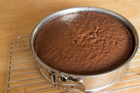 in pan flourless chocolate cake with raspberry sauce the homegrown gourmet