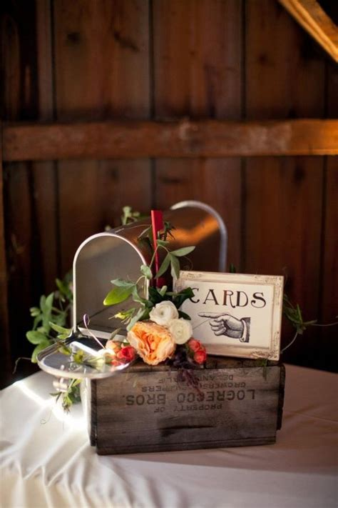 rustic wedding card boxes   alternatives