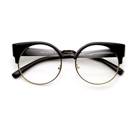 Kacamata Brown Half Frame S54591 womens half frame semi rimless clear lens cat eye