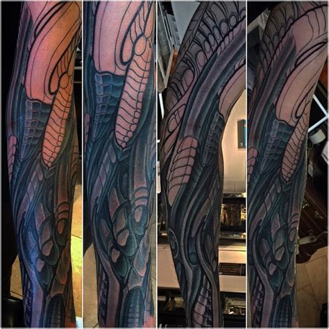 biomechanical tattoo san diego in progress biomechanical tattoo by terry ribera