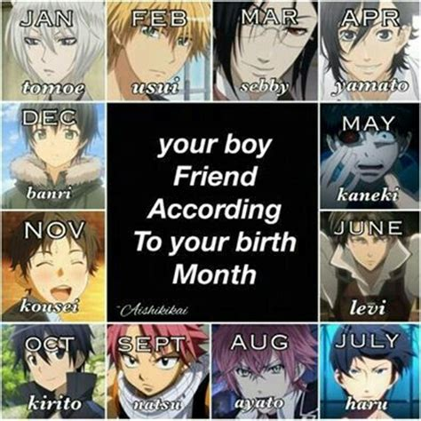 your boy friend according to your birth month birthday