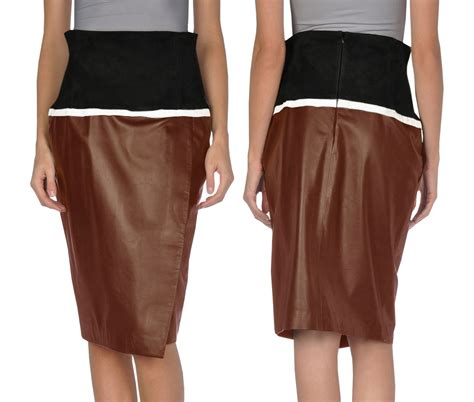 gorgeous summer leather skirt for
