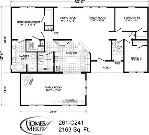 homes of merit floor plans modest house no family room for the home dream homes