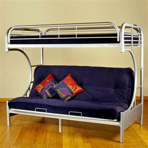 Metal Frame Futon Bunk Bed by Metal Frame Bunk Bed With Futon Black Futon Bunk Bed