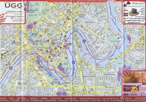 printable map brisbane cbd popular 189 list melbourne tourist attractions map