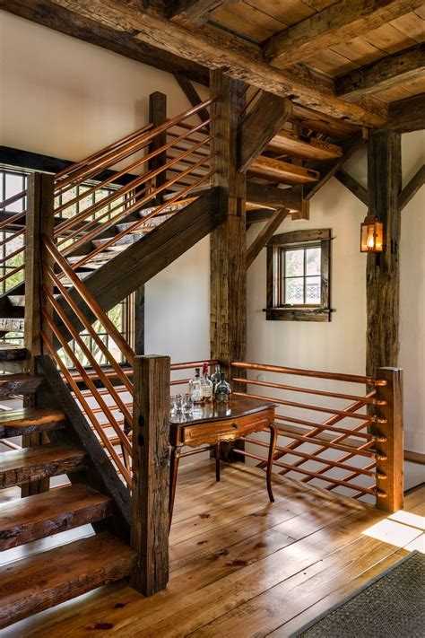 House Porch Designs by Rebar Railing Ideas Staircase Rustic With Large Clear Shade