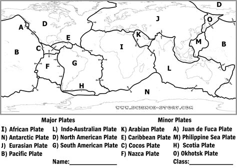 coloring page earth s plates plate tectonics diagram black and white google search
