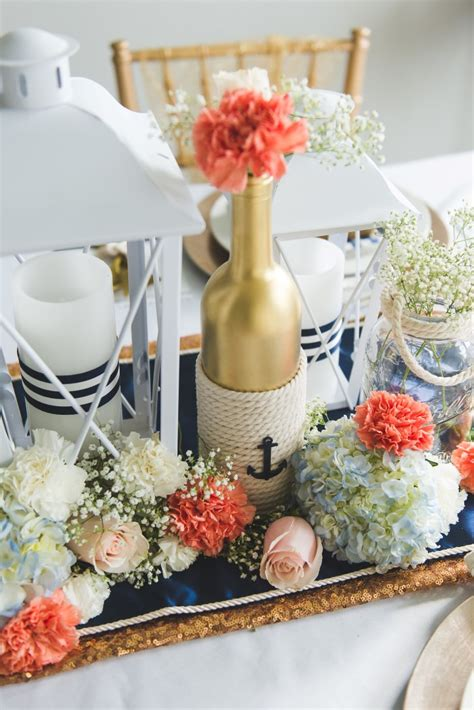 nautical centerpieces for tables diy nautical wedding centerpiece tutorial