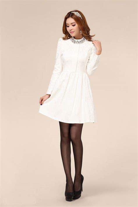 gaun pesta malam putih lengan panjang baju wanita online gaun pesta malam putih lengan panjang model terbaru