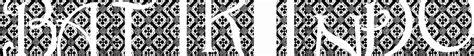 design font batik batik indo font