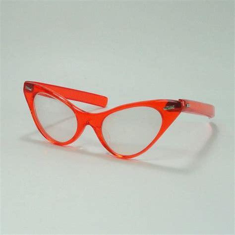 Cat Eye Rafflesia Orange cat eye glasses transparent bright orange frames