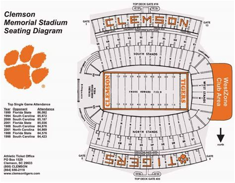 clemson seating chart valley help shape ncaa football band locations page 4