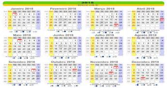 Calendario 2018 Feriados Sp Webcid
