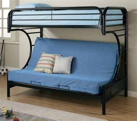 twin bunk bed over futon sofa dreamfurniture com fordham c style twin over full futon