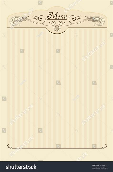 How To Decorate A Restaurant by Background Menu Fish Menu Menu Seafood Stock Vector